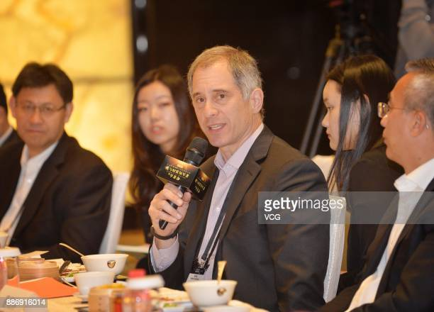 Adam Lashinsky executive chief editor of magazine Fortune speaks at The Morning Tea With Fortune Leaders ahead of the 2017 Fortune Global Forum on...