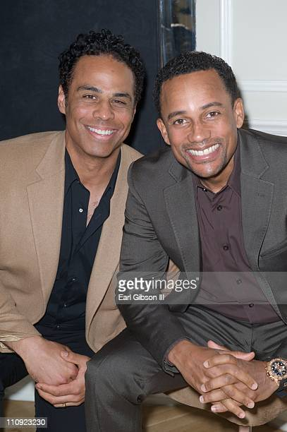 Adam LazarreWhite and Hill Harper at the Bro/Sis Comes to Hollywood Fundraiser at The Beverly Hilton hotel on March 26 2011 in Beverly Hills...