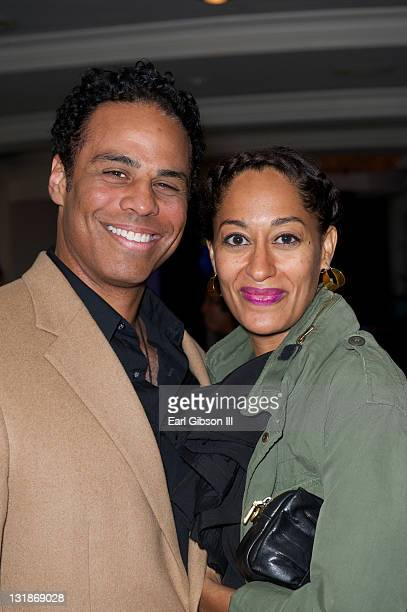 Adam LazarreWhite and Tracee Ellis Ross at The Brotherhood/SisterSol Fundraiser at The Beverly Hilton hotel on March 26 2011 in Beverly Hills...