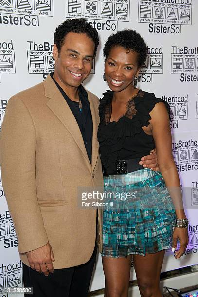 Adam LazarreWhite and Vanessa Williams at The Brotherhood/SisterSol Fundraiser at The Beverly Hilton hotel on March 26 2011 in Beverly Hills...
