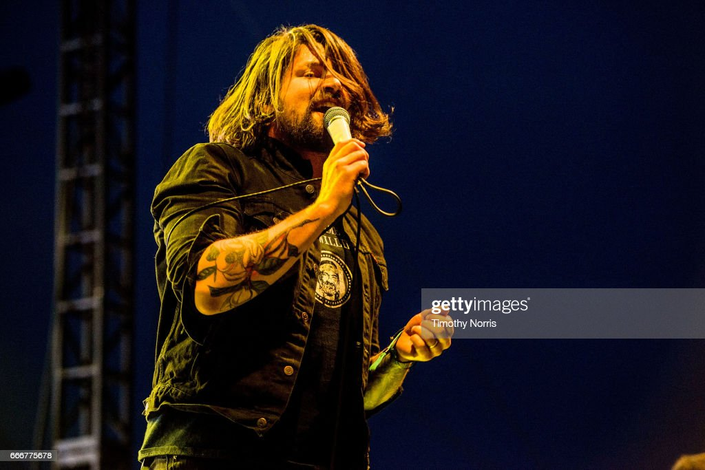 Adam Lazzara of Taking Back Sunday performs during When We Were Young Festival 2017 at The Observatory on April 9, 2017 in Santa Ana, California.