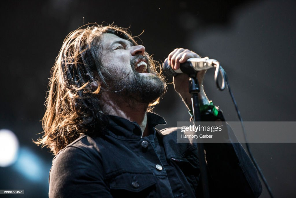 Adam Lazzara of the band Taking Back Sunday performs during the When We Were Young Festival 2017 at The Observatory on April 8, 2017 in Santa Ana, California.