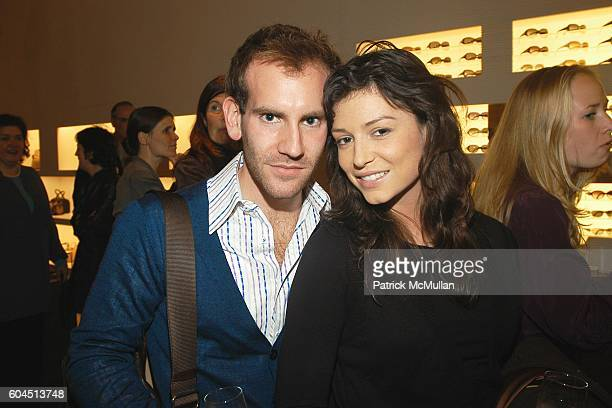 Adam Lefkowitz and April Hennig attend FENDI and MoMA host the opening of the ROBERTO ROSSELLINI Film Retrospective at Fendi on November 15 2006 in...