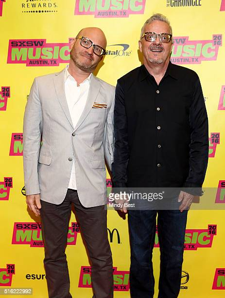 Adam Lerner Director of the Museum of Contemporary Art Denver and musician Mark Mothersbaugh attend SXSW Interview Mark Mothersbaugh during the 2016...