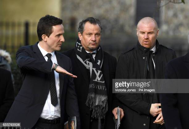 Adam Leventhal Dean Holdsworth and Sean Dyche during the funeral service for Graham Taylor held at St Mary's Church Watford