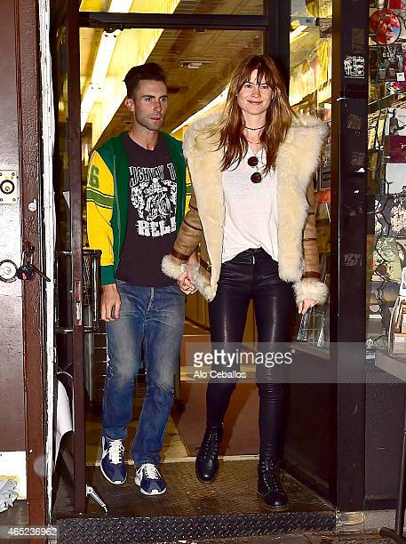Adam Levine and Behati Prinsloo are seen on March 4 2015 in New York City