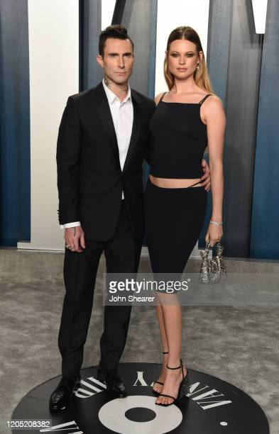 Adam Levine and Behati Prinsloo attend the 2020 Vanity Fair Oscar Party hosted by Radhika Jones at Wallis Annenberg Center for the Performing Arts on...