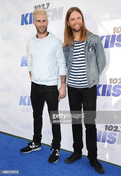 Adam Levine and James Valentine of Maroon 5 attend 1027 KIIS FM's 2014 Wango Tango at StubHub Center on May 10 2014 in Los Angeles California