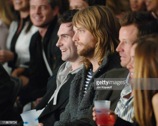 Adam Levine and James Valentine of Maroon 5 during 2006 General Motors Annual ten Celebrity Fashion Show Inside at 1540 N Vine in Hollywood...