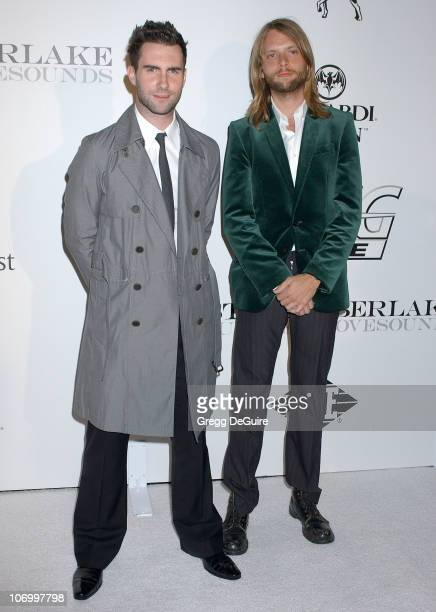 Adam Levine and James Valentine of Maroon 5 during Justin Timberlake Celebrates the Release of His Album Futuresex/Lovesounds at Miauhaus Studios in...