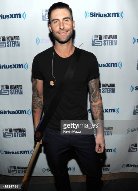 Adam Levine attends 'Howard Stern's Birthday Bash' presented by SiriusXM produced by Howard Stern Productions at Hammerstein Ballroom on January 31...
