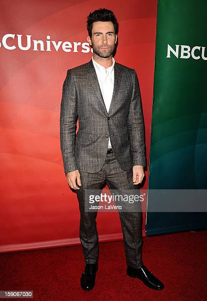 Adam Levine attends the 2013 NBC TCA Winter Press Tour at The Langham Huntington Hotel and Spa on January 6 2013 in Pasadena California