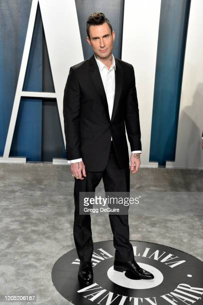 Adam Levine attends the 2020 Vanity Fair Oscar Party hosted by Radhika Jones at Wallis Annenberg Center for the Performing Arts on February 09, 2020...