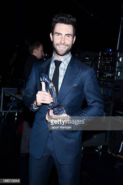 Adam Levine backstage at the 39th Annual People's Choice Awards at Nokia Theatre LA Live on January 9 2013 in Los Angeles California