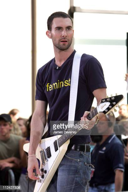 Adam Levine Maroon 5 during Maroon 5 Performs on The Today Show Summer Concert Series June 18 2004 at NBC Studios Rockefeller Plaza in New York City...