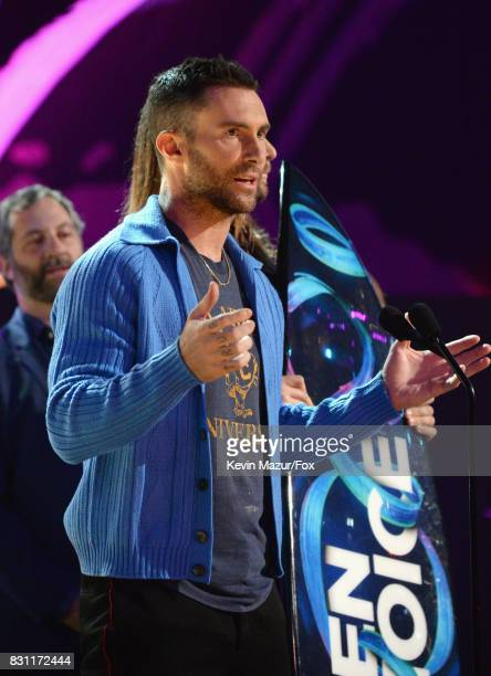 Adam Levine of Maroon 5 accepts the Decade Award onstage during the Teen Choice Awards 2017 at Galen Center on August 13 2017 in Los Angeles...
