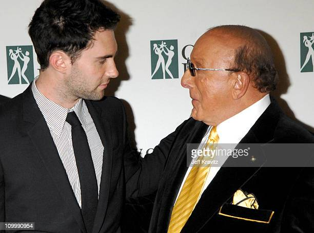 Adam Levine of Maroon 5 and Clive Davis during The City of Hope's Spirit of Life Award Gala Honoring BMG US President Charles Goldstuck at Pacific...
