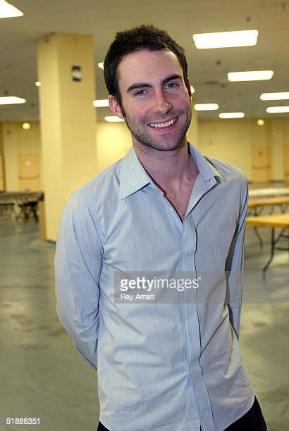 Adam Levine of Maroon 5 attends a game between the New York Knicks and Dallas Mavericks at Madison Square Garden on December 21 2004 in New York City...