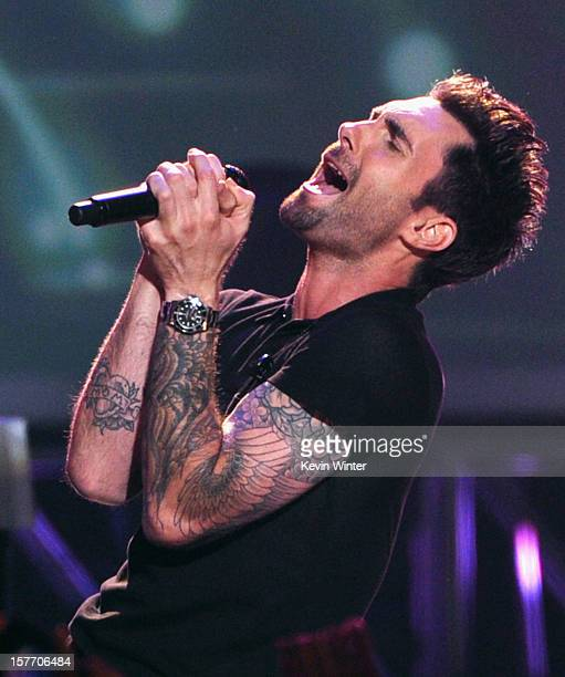 Adam Levine of Maroon 5 onstage at The GRAMMY Nominations Concert Live held at Bridgestone Arena on December 5 2012 in Nashville Tennessee