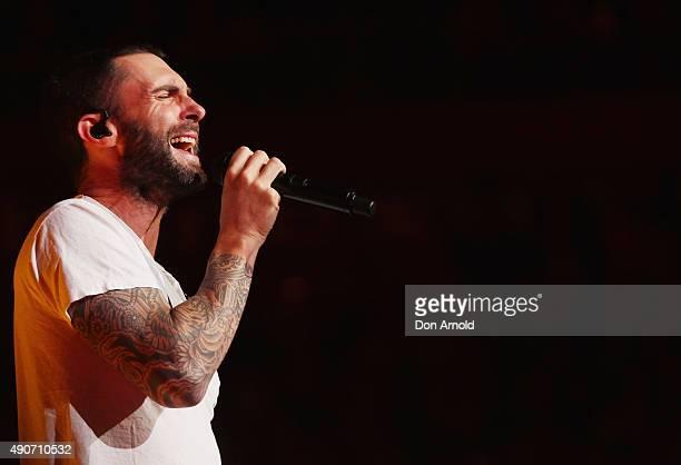 Adam Levine of Maroon 5 performs at Allphones Arena on September 29 2015 in Sydney Australia
