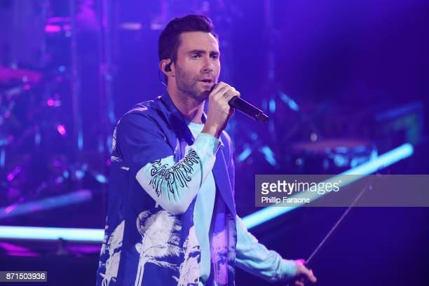 Adam Levine of Maroon 5 performs at the iHeartRadio Album Release Party with Maroon 5 at iHeartRadio Theater on November 7 2017 in Burbank California