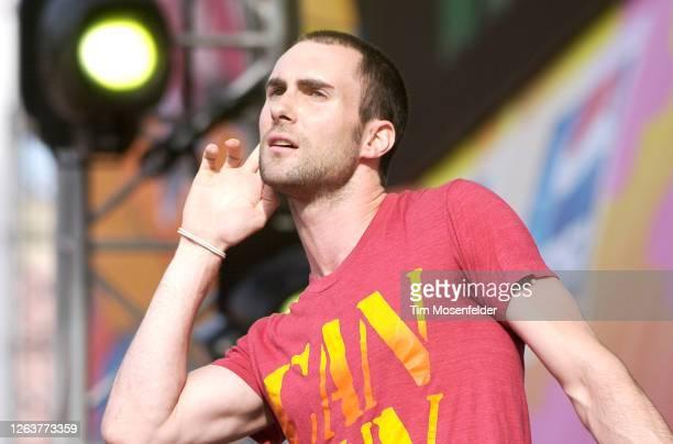 Adam Levine of Maroon 5 performs during KIIS-FM Wango Tango 2004 at the Rose Bowl on May 15, 2004 in Pasadena, California.