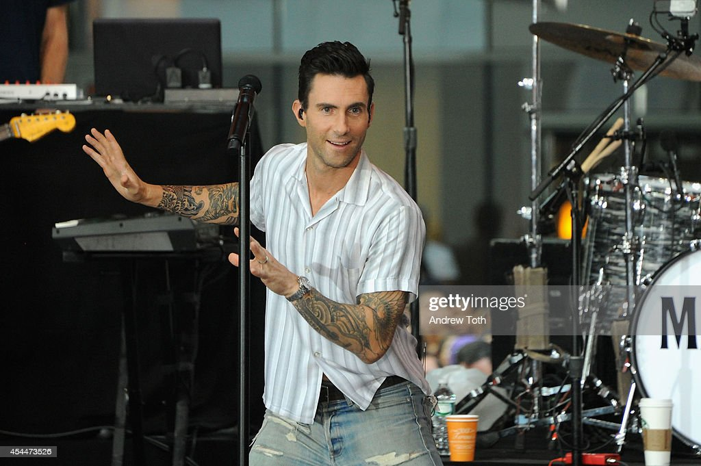 Maroon 5 Perform On NBC's 'Today' : News Photo
