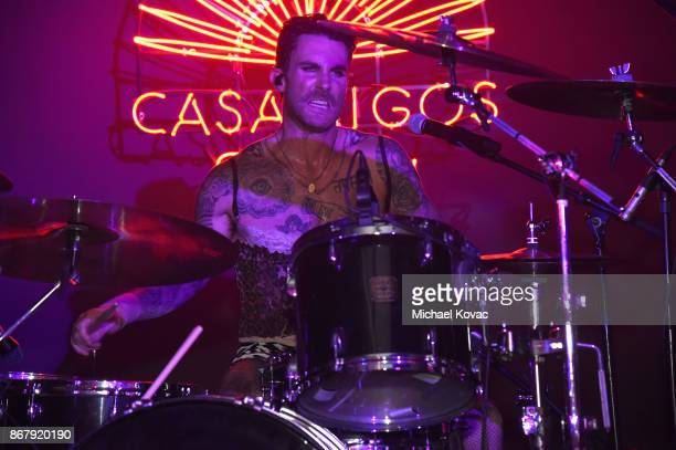 Adam Levine of Maroon 5 performs onstage during Casamigos Halloween Party on October 27 2017 in Los Angeles California