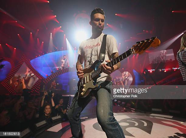 Adam Levine of Maroon 5 performs onstage during the iHeartRadio Music Festival at the MGM Grand Garden Arena on September 21 2013 in Las Vegas Nevada