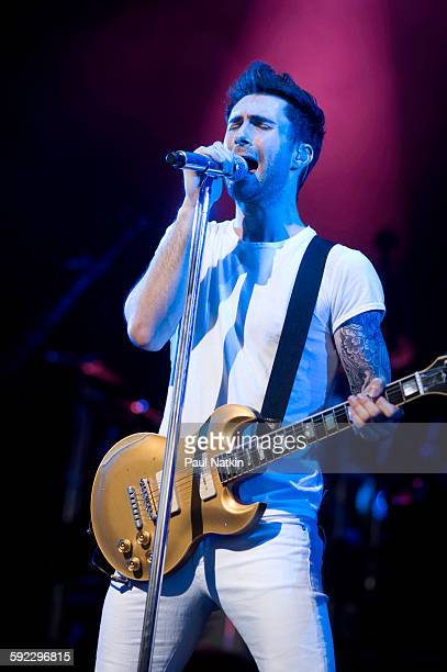 Adam Levine performs with Maroon 5 at Riverbend in Cincinnati Ohio August 30 2008