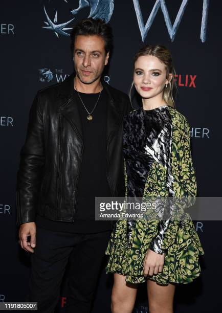 Adam Levy and Freya Allan attend the photocall for Netflix's The Witcher Season 1 at the Egyptian Theatre on December 03 2019 in Hollywood California