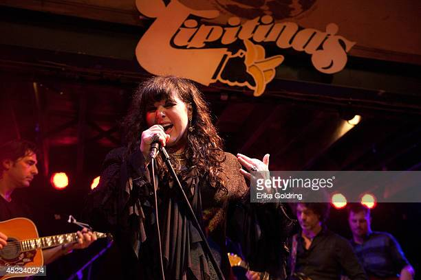 Adam Levy Ann Wilson of Heart Doyle Bramhall II and Austin Scaggs perform during Stones Fest at Tipitina's on July 17 2014 in New Orleans Louisiana