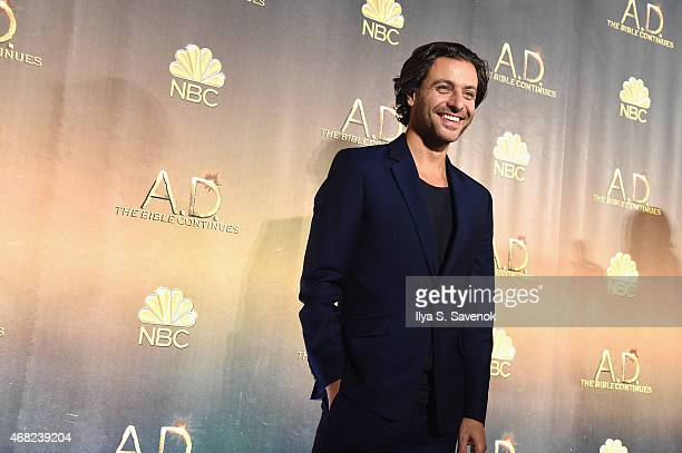 Adam Levy attends the 'AD The Bible Continues' New York Premiere Reception at The Highline Hotel on March 31 2015 in New York City