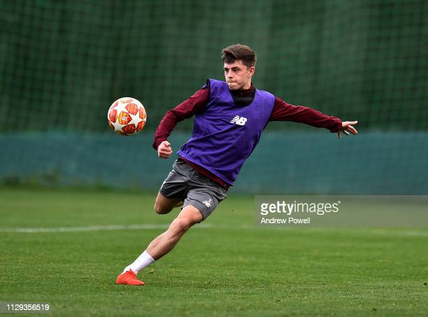 Adam Lewis of Liverpool during a training session on February 13 2019 in Marbella Spain