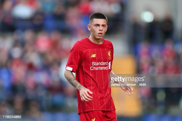 Adam Lewis of Liverpool during the PreSeason Friendly match between Tranmere Rovers and Liverpool at Prenton Park on July 11 2019 in Birkenhead...