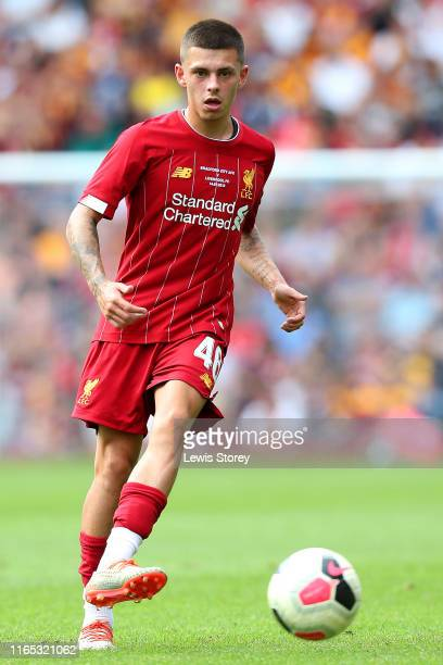 Adam Lewis of Liverpool during the PreSeason Friendly match between Bradford City and Liverpool at Northern Commercials Stadium on July 14 2019 in...
