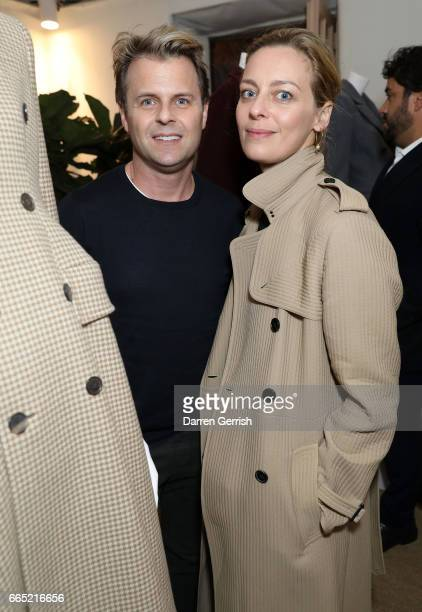Adam Lippes and Jessica Diehl attend the Matchesfashioncom 30th Anniversary Dinner on April 5 2017 in New York City
