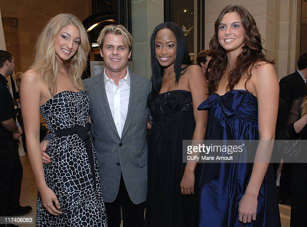 Adam Lippes with models wearing Adam Eve during Cocktail Party for Adam Lippes' Line Adam Eve Sponsored by Gran Centenario Tequila November 8 2006 at...
