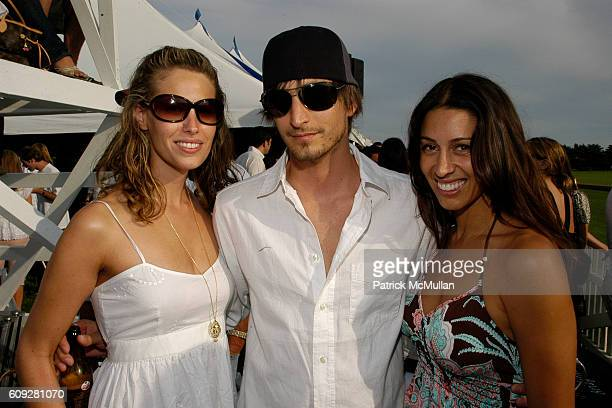 Adam Lipson and Shamin Abas attend T-MOBILE SIDEKICK LOUNGE at Mercedes-Benz Polo Challenge at Two Trees Farm on July 21, 2007 in BridgeHampton, NY.
