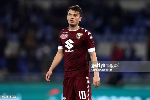 Adam Ljajic of FC Torino looks on during the Serie A match between SS Lazio and FC Torino at Stadio Olimpico on March 13 2017 in Rome Italy