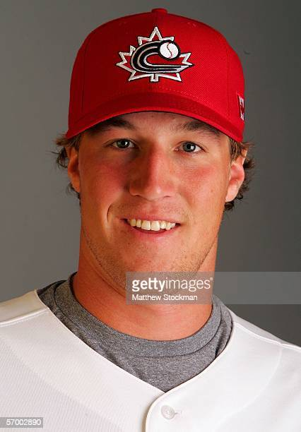 Adam Loewen playing for Canada in the World Baseball Classic poses for a portrait on March 4 2006 during training for the World Baseball Classic at...