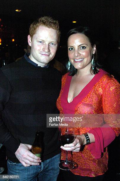 Adam Lofthouse and Anthea Graupner at the BoyTown film premiere afterparty at Hugo's Lounge in Kings Cross Sydney 8 October 2006 SHD Picture by ADAM...
