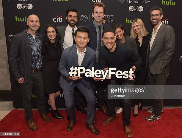 Adam Lowitt Jen Flanz Hasan Minhaj Ronny Chieng Jordan Klepper Trevor Noah Alex Wagner Desi Lydic and Steve Bodow attend PaleyFest New York 2016 'The...