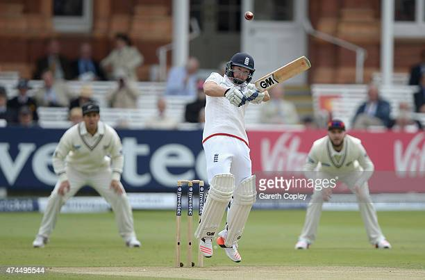 Adam Lyth of England bats during day three of 1st Investec Test match between England and New Zealand at Lord's Cricket Ground on May 23 2015 in...
