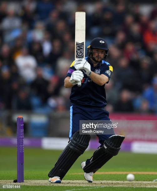 Adam Lyth of Yorkshire bats during the Royal London OneDay Cup match between Yorkshire and Lancashire at Headingley on May 1 2017 in Leeds England