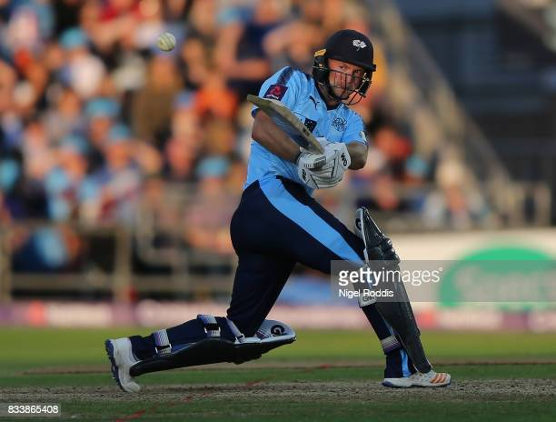 Adam Lyth of Yorkshire Vikings during the NatWest T20 Blast at Headingley on August 17 2017 in Leeds England