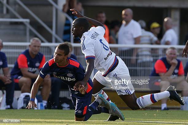 Adam Maher Gueida Fofana during the Valais Cup match between Olympique Lyon and PSV Eindhoven on July 15 2015 at Aix Les bains France