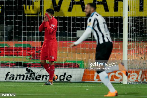 Adam Maher of FC Twente during the Dutch Eredivisie match between Heracles Almelo v Fc Twente at the Polman Stadium on March 9 2018 in Almelo...