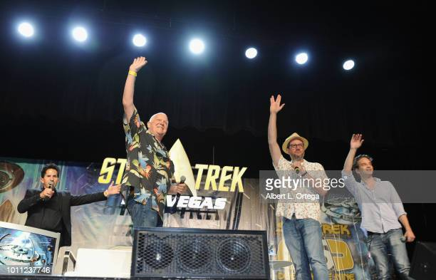 Adam Malin Dennis McCarthy Michael Giacchinoand Jeff Russo attend Day 3 of Creation Entertainment's 2018 Star Trek Convention Las Vegas at the Rio...