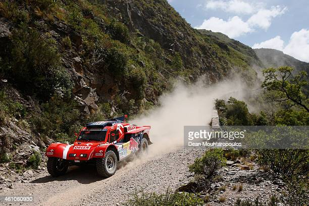 Adam Malysz and Rafal Marton of Poland for Orlen team Original SMG compete during day 2 of the Dakar Rallly on January 5 2015 between Villa Carlos...